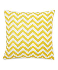 Take a look at this Yellow Zigzag Down Square Throw Pillow by Frog Hill Designs on #zulily today! $39.99, regular 159.00