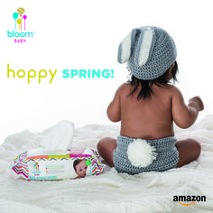 Hoppy #FirstDayOfSpring! - do you know where your wipes are? Ours are #hypoallergenic, just in time for sneezin season. This month only, use code 5DOLLARSOFF for $5 off at Amazon.com. #AchooseBloom #AmazonBaby #SensitiveSkin