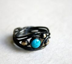 Sterling Silver Turquoise Nest RIng