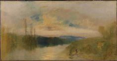 Joseph Mallord William Turner, 'The Lake, Petworth, Sunrise' c.1827-8
