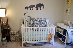 A safari themed nursery for your new baby boy