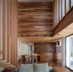 Vista de la cocina de madera