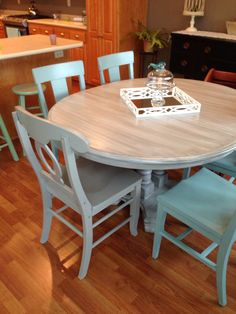 Kitchen Table and chairs with Annie Sloan Chalk paint.