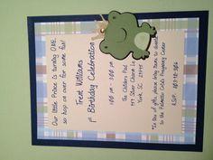 Frog Prince Invitation