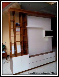 Ide Desain Penyekat Ruangan Desain Lemari Pembatas Ruangan 2 Muka