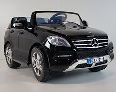 2014 Licensed Mercedes Benz Ml350 TDI Kids Ride on Power Wheels Battery Toy Car,Remote control,Lights,Music,2 Seats-Black
