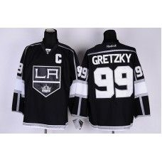 Reebok Los Angeles Kings #99 Wayne Gretzky Black Ice Stitched Hockey Jersey_Wayne Gretzky Jersey