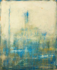 Blue White Painting by Christian Hetzel