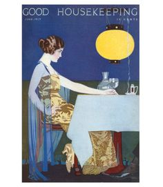 Good Housekeeping magazine cover, June 1917 Buy a poster of this cover