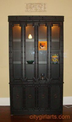 Faux Bamboo China Cabinet Makeover | Faux bamboo, China cabinets ...