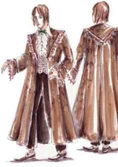 """Concept art of Ron Weasley in dress robes from """"Harry Potter and the Goblet of Fire"""" (2005)."""
