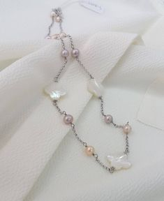 Wholesale Price Mother of Pearl Pink Pearl Necklace Freshwater Pearl Four-leaf Clover MOP Sterling Silver Chain Necklace Pink Pearl Necklace, Clover Necklace, Freshwater Pearl Necklaces, Four Leaf Clover, Sterling Silver Chains, Unique Jewelry, Handmade Gifts, Pearls, Etsy