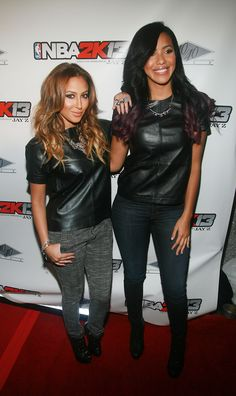 "Adrienne Bailon and Julissa Bermudez at the ""NBA 2K13"" launch at the 40/40 club"