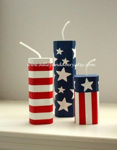 Wooden Firecrackers, Set of 3 Wooden Firecrackers, of July decor, Patriotic decor, Fourth of Jul Fouth Of July Crafts, Wooden Firecrackers, 4th Of July Decorations, Patriotic Crafts, Happy Independence Day, Fourth Of July, Memorial Day, Fireworks, Crafty