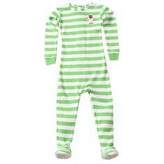 Little Keeper Sleeper Footies - Green Stripe