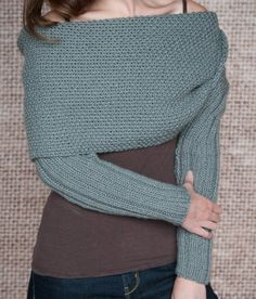 Knitting Pattern Sleeve Scarf Sweater Wrap Instand