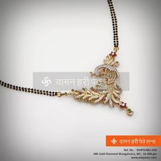 Stunning Diamond Mangalsutra ... Diamond Mangalsutra, Pearl Necklace Designs, New Jewellery Design, India Jewelry, Wedding Jewelry, Beaded Jewelry, Jewelery, Indian Accessories, Lehenga