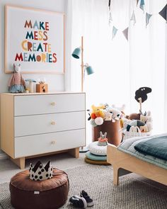 Make Mess Create Memories! Fun art work for a colourful kids room.