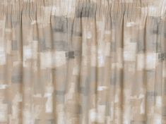 An abstract patterned thermal curtain featuring soft brush strokes in a grid pattern with light to dark tones. Beige Curtains, Pleated Curtains, Pencil Pleat, Thermal Curtains, Abstract Pattern, Ruffle Curtains