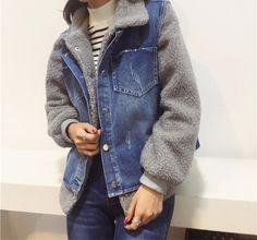 L8520 Wholesale Fashion Clothing 2017 Winter Women Denim Jackets Short Jean Vest Plus Feleece Coats Two-piece Dress Plus Size - Buy Women Winter Jacket,Jacket Coat Women,Coat Woman Winter Product on Alibaba.com