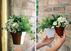 dual-sided magnetic flower pot... how cute would this be in a kitchen window??