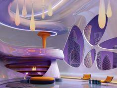 Heroic Futuristic Minimalist Living Room Design - Page 15 of 23 Futuristic Interior, Futuristic Furniture, Home Interior Design, Interior And Exterior, Living Room Designs, Living Room Decor, Retro Home Decor, Retro Futurism, Minimalist Living