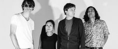 San Francisco rock and roll punk band deerhoof new album the magic featuring their first single plastic thrills black and white press photo 2016 release upcoming album summer after hbo rejection for Vinyl soundtrack Eddy Grant, Gary Numan, Top Albums, The Jetsons, The Beach Boys, Press Photo, Latest Music, Lineup, Music Artists