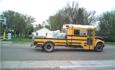 50 Used School Bus Conversions You'll Love - Page 11 of 50 - Mentertained Used School Bus, School Bus Conversion, School Bus Driver, Rv Truck, Truck Bed, Pickup Trucks, Dump Truck, Ford Trucks, Classic Campers