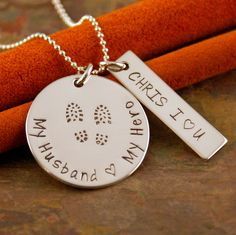 Hand Stamped Jewelry  Sterling Silver by IntentionallyMe on Etsy, $50.00