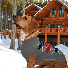 Chilly Dog Sweater Gray Argyle Handmade Organic Red Wool, M, L, XL 18-60 lbs NWT #ChillyDog