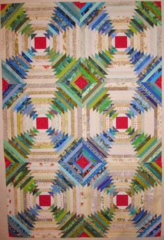 Six Blocks Finished, Thirty More to Go! I've been mostly working on my pineapple log cabin blocks over the past week. I keep telling my. Log Cabin Quilt Pattern, Log Cabin Quilts, Barn Quilts, Log Cabins, Rustic Cabins, Pineapple Quilt Pattern, Pineapple Quilt Block, Scrappy Quilts, Mini Quilts