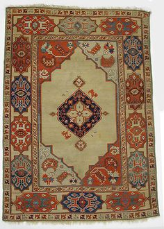 Carpet  Date:     probably 20th century Geography:     Turkey Culture:     Islamic Medium:     Wool (warp, weft and pile); symmetrically knotted pile