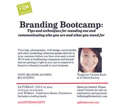 The #FIDM Blog: FIDM Alumni Association Presents 'Branding Bootcamp' Workshop