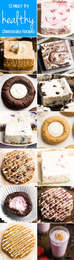 13 Must Try Healthy Cheesecake Recipes -- all made with NO refined flour or sugar! The perfect guilt-free treats for birthday parties, girls nights, or whenever you're craving something sweet!