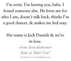 Jack Daniels. Jordan Sarah Weatherhead