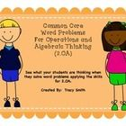Common Core Second Grade Word Problems For Operations and Algebraic Thinking (2.OA)  See what your students are thinking when they solve word probl...