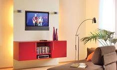 Mit Dieser TV Multifunktionswand Schaffen Sie Die Perfekten Hintergrund Für  Ihren Fernseher: Lautsprecherboxen Und