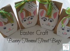 These bunny bags are a such a fun Easter craft! We love the idea of creating unique party bags for our children's parties, whether made from old comics, or creating individually decorated themed bags like these Easter craft bunny bags -… Fun Crafts For Kids, Preschool Crafts, Easter Crafts, Holiday Crafts, Diy Crafts, Hoppy Easter, Easter Bunny, Milk Carton Crafts, Rabbit Crafts