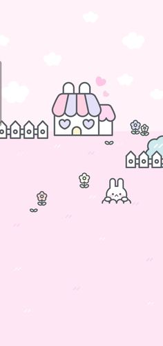 Kawaii Wallpaper, Cute Wallpapers, Tumblr, Pink Backgrounds, Pastel, Character, Cake, Kawaii Background, Cute Backgrounds