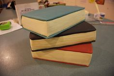 simple book cake- used as an inspiration for a cake.