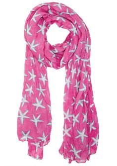 Starfish Print Scarf