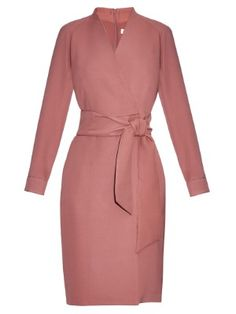 Max Mara Svedese Dress In Dusky-pink Red Slip Dress, Wrap Dress, Pink Dress, Day To Night Dresses, Dresses For Work, Red Long Sleeve Dress, Max Mara, Business Dresses, Business Attire