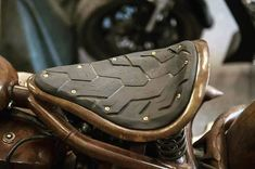 Take a peek at just a few of my favorite builds - modified scrambler ideas like this Motos Bobber, Sportster Motorcycle, Bobber Bikes, Motorcycle Seats, Bobber Chopper, Bike Seat, Motorcycle Tips, Cafe Racer Seat, Cafe Racer Bikes