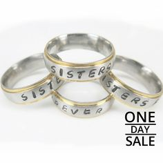 Today Only! 10% OFF this item.  Follow us on Pinterest to be the first to see our exciting Daily Deals. Today's Product: Christmas Personalized Gift Name Ring Personalized Ring 6mm Wide Matte Finish with Shiny Edges, Brushed Finish Comfort Fit Stainless Steel R Buy now: https://www.etsy.com/listing/486840547?utm_source=Pinterest&utm_medium=Orangetwig_Marketing&utm_campaign=personalized%20Christmas%20gift   #etsy #etsyseller #etsyshop #etsylove #etsyfinds #etsygifts #musthave #loveit…