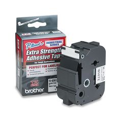 Brother P-Touch TZ Extra-Strength Adhesive d Labeling Tape 1-1/2w on White