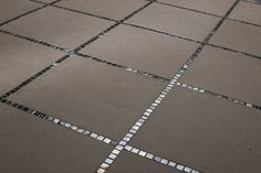Black tiles with mosaic