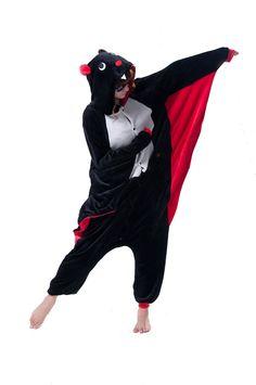 LIHAO Fledermaus Onesie Pyjamas Schlafanzug unisex Erwachsene Nachtwäsche Anime Cosplay Halloween Kostüm Kleidung Tier - http://www.amazon.de/dp/B00UFCKNXW
