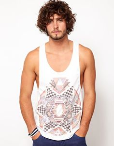 ASOS.com Vest With Pattern Clash Print