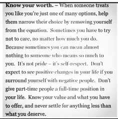 Profound and true. Knowing and acknowledging your TRUE worth is important.