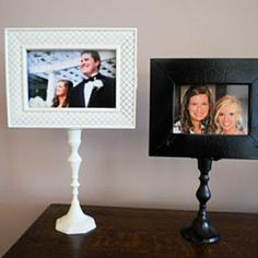 Candlestick picture frames